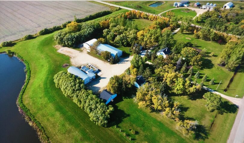 Aerial shot of Transcona Property