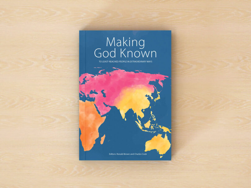 "The book ""Making God Known"" on a table."