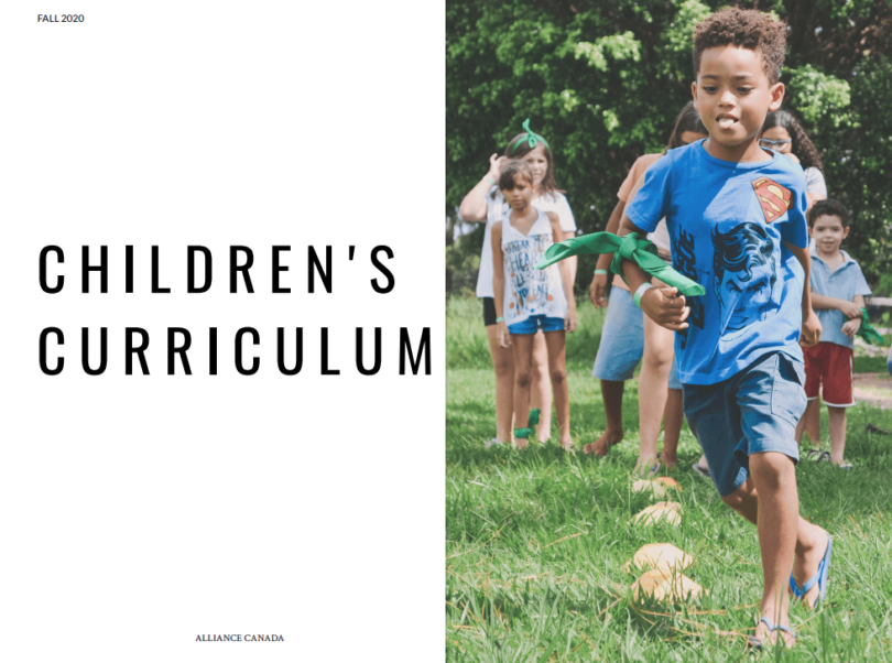 Children's Curriculum - Children running in a park together