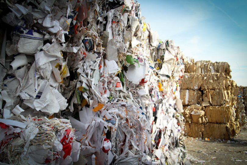 A dump landfill