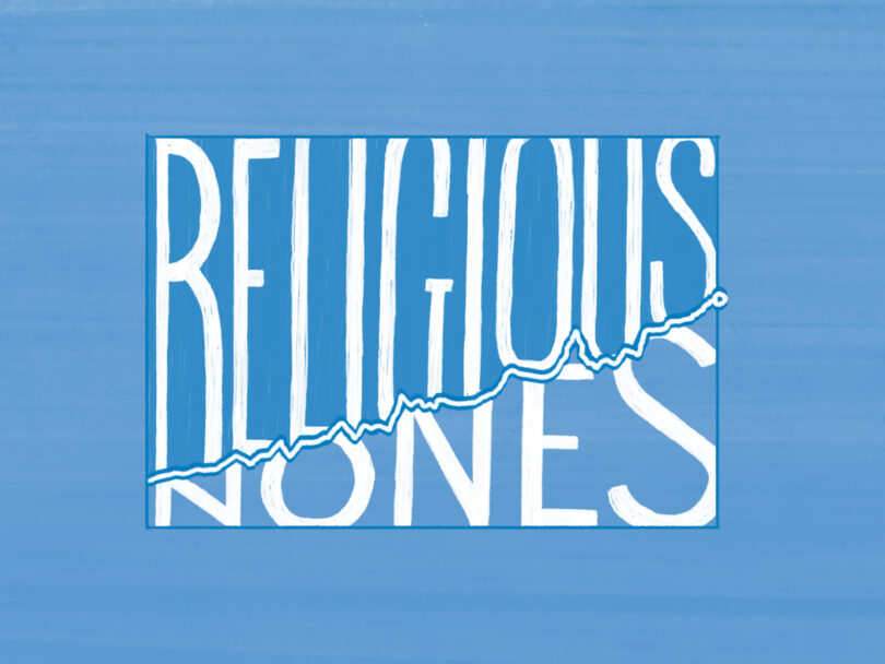 Religious Nones is written in hand lettering