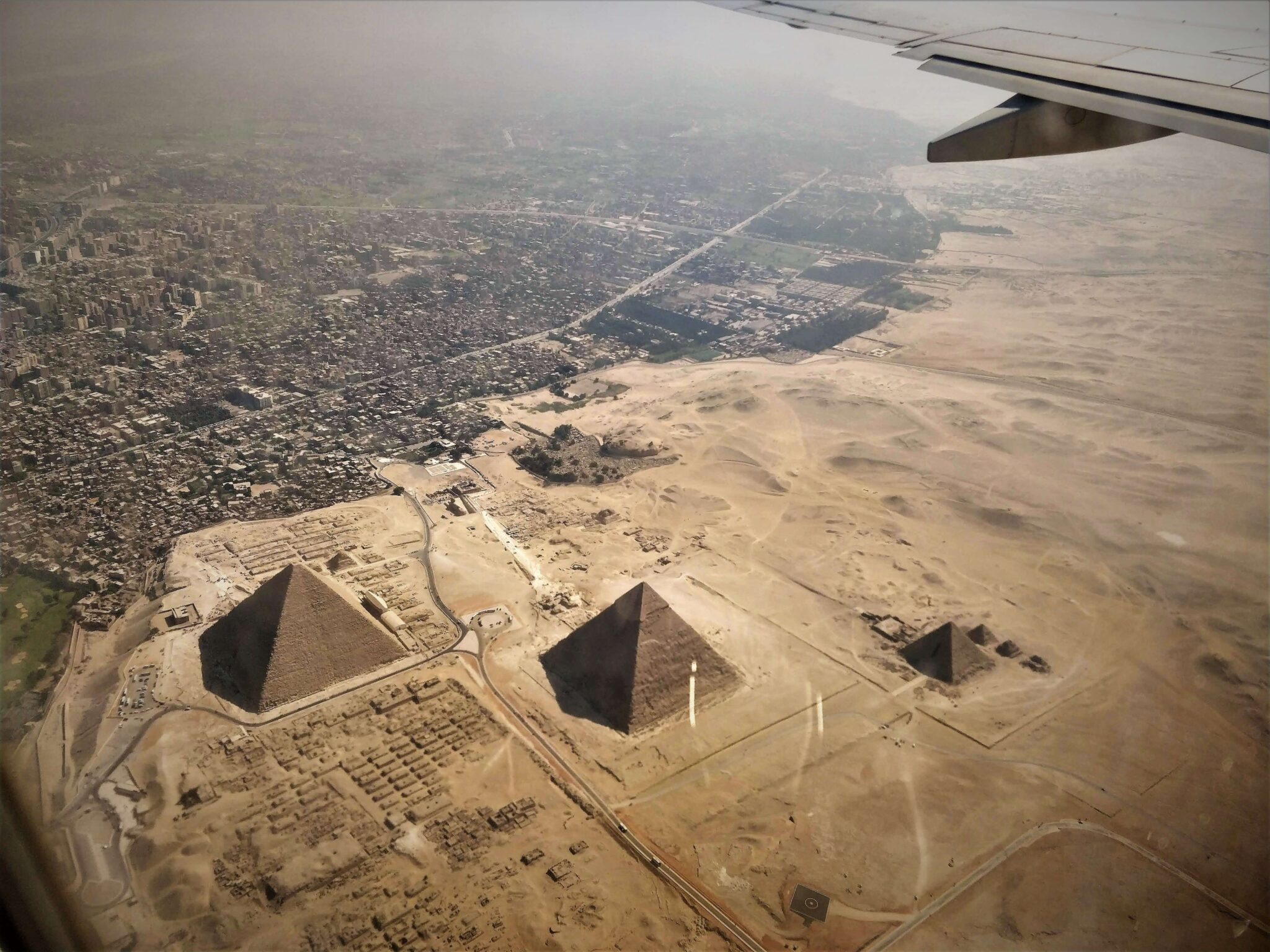 Cairo Egypt from an Airplane
