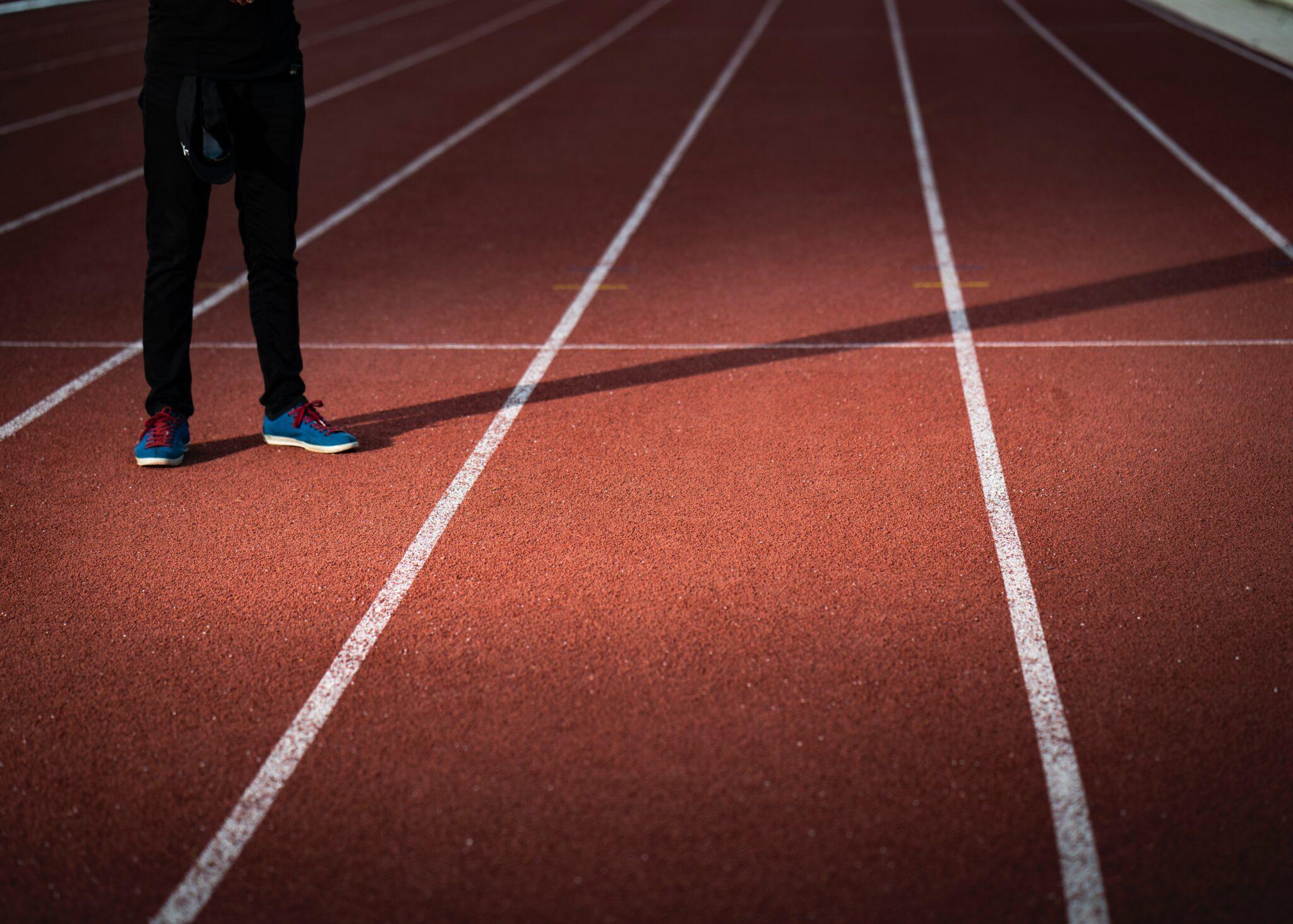 A running track